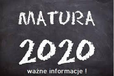 Matura 2020 – ważne informacje!